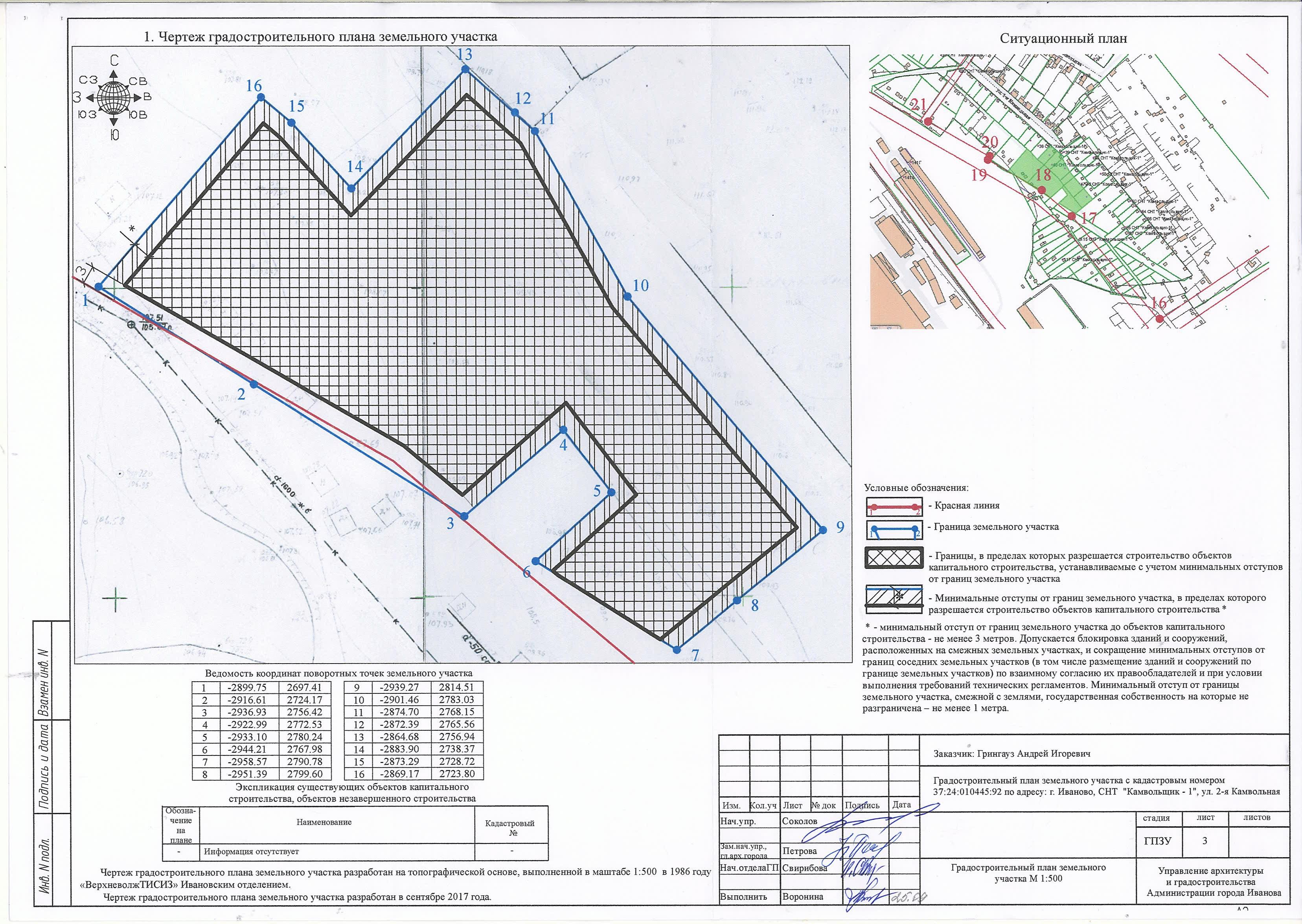 Как выглядит схема отображающая расположение построенного объекта
